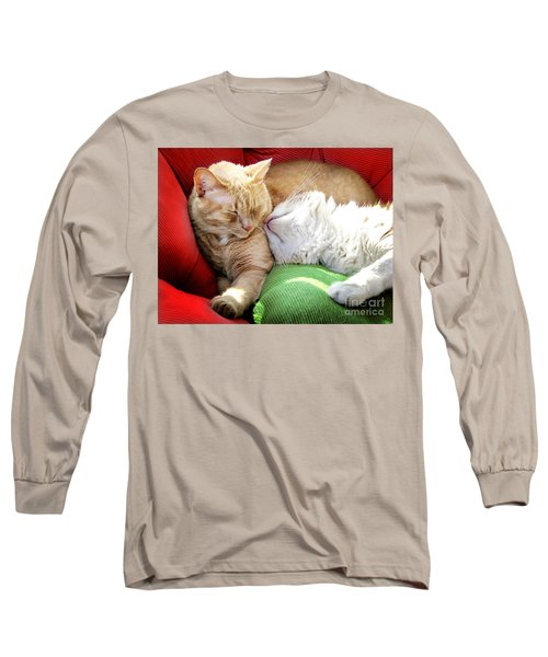 Warmth And Love For The Holidays Long Sleeve T-Shirt by Ellen Cotton