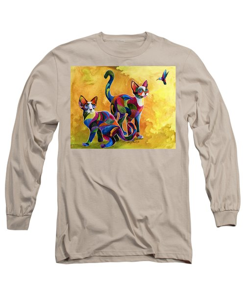 Watch The Birdie Long Sleeve T-Shirt by Sherry Shipley