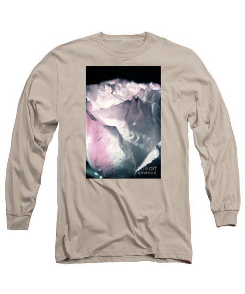 White Pink Rose Long Sleeve T-Shirt