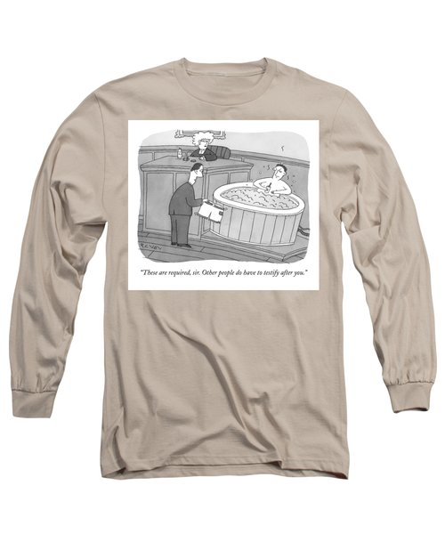 Within A Courtroom Long Sleeve T-Shirt