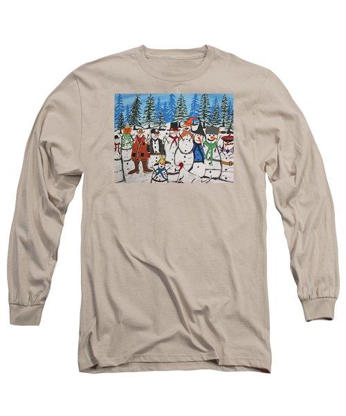 10 Christmas Snowmen  Long Sleeve T-Shirt