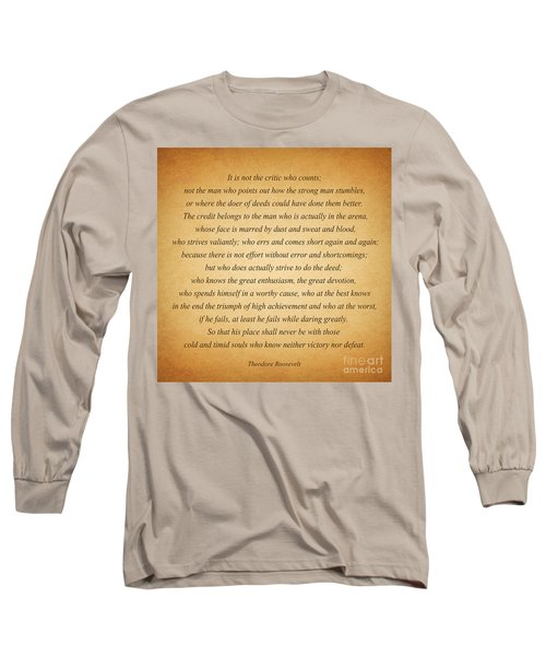 104- Theodore Roosevelt Long Sleeve T-Shirt by Joseph Keane