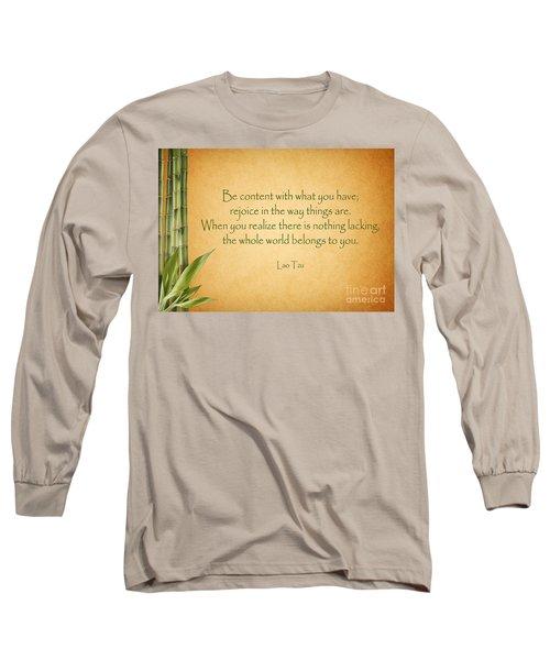 114- Lao Tzu Long Sleeve T-Shirt