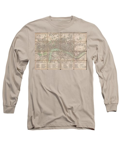 1795 Bowles Pocket Map Of London Long Sleeve T-Shirt