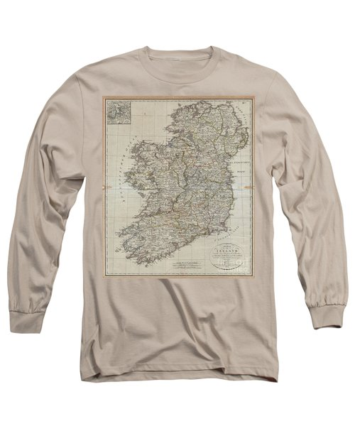 1804 Jeffreys And Kitchin Map Of Ireland Long Sleeve T-Shirt