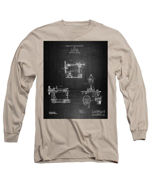 1885 Singer Sewing Machine Long Sleeve T-Shirt