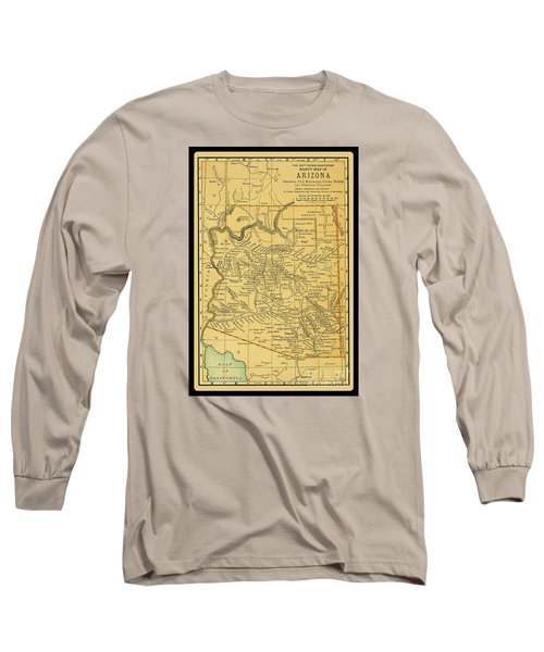 1891 Arizona Map Long Sleeve T-Shirt