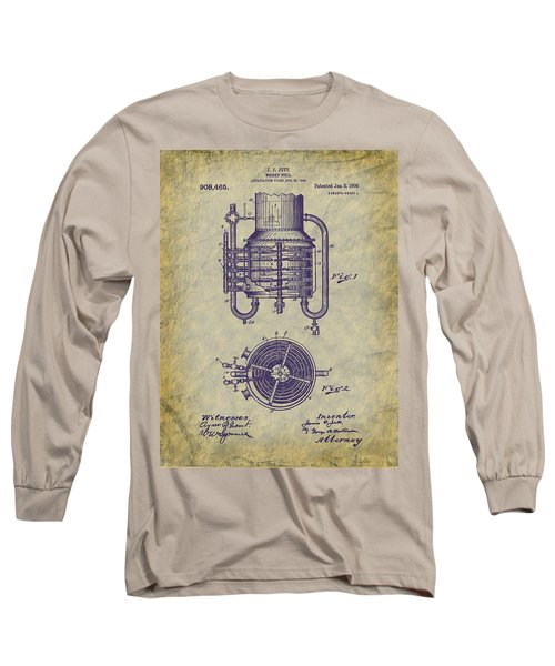 1909 Jett Whiskey Still Patent Long Sleeve T-Shirt by Barry Jones