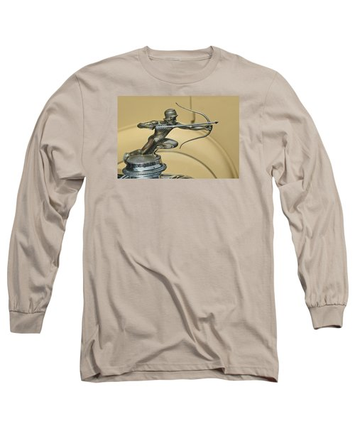 1928 Pierce Arrow Helmeted Archer Hood Ornament Long Sleeve T-Shirt