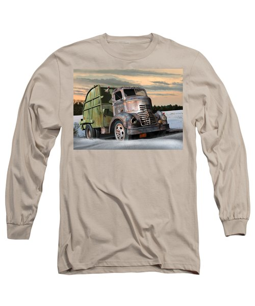 1940 Gmc Garbage Truck Long Sleeve T-Shirt by Stuart Swartz
