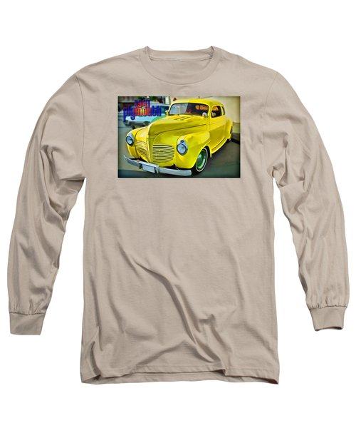 Long Sleeve T-Shirt featuring the digital art 1941 Plymouth by Richard Farrington