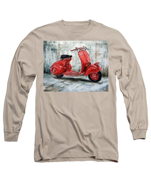 1947 Vespa 98 Scooter Long Sleeve T-Shirt