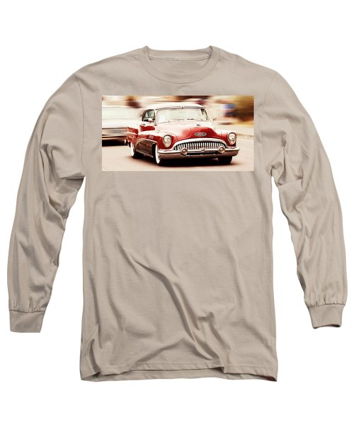 Classic Cars Long Sleeve T-Shirt featuring the photograph 1953 Buick Super by Aaron Berg