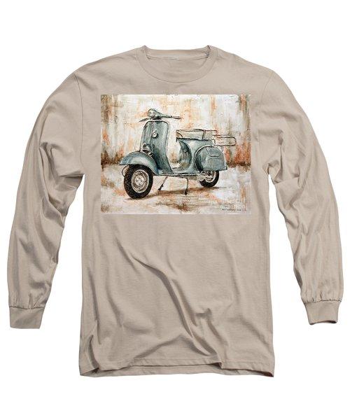 1959 Douglas Vespa Long Sleeve T-Shirt by Joey Agbayani