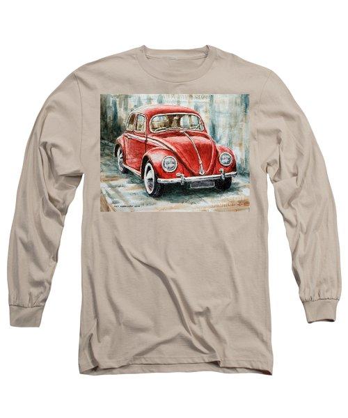 1960 Volkswagen Beetle 2 Long Sleeve T-Shirt by Joey Agbayani