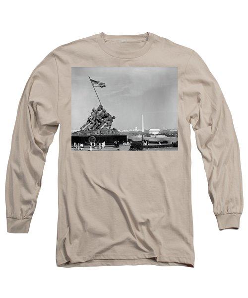 1960s Marine Corps Monument Long Sleeve T-Shirt