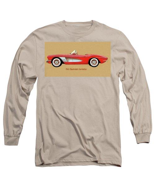 1961 Chevrolet Corvette Long Sleeve T-Shirt