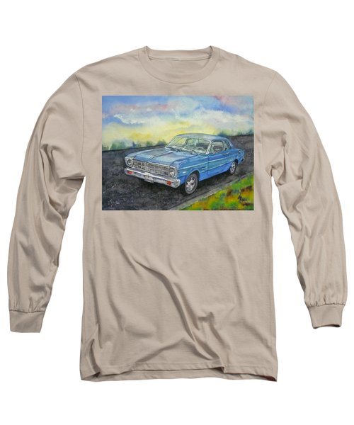 Long Sleeve T-Shirt featuring the painting 1967 Ford Falcon Futura by Anna Ruzsan