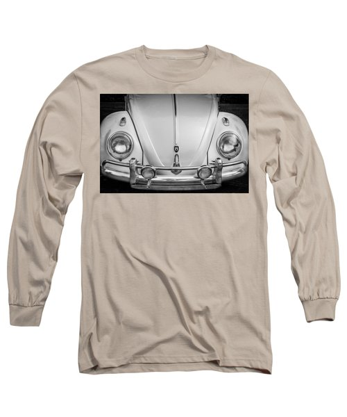 1960 Volkswagen Beetle Vw Bug   Bw Long Sleeve T-Shirt