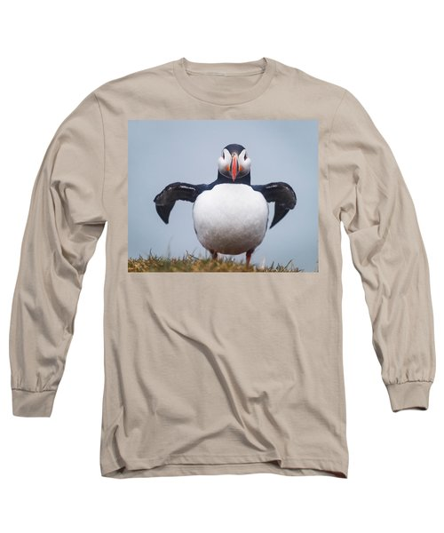 Atlantic Puffin Fratercula Arctica Long Sleeve T-Shirt by Panoramic Images