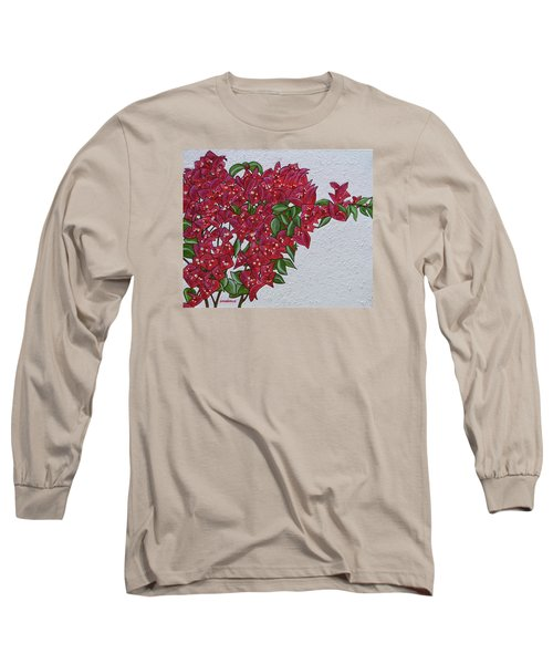 Bougainvillea Long Sleeve T-Shirt by Donna  Manaraze
