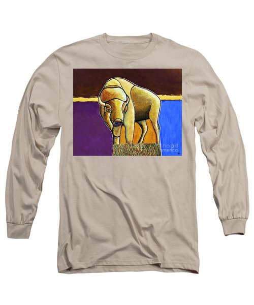 Long Sleeve T-Shirt featuring the painting Buffalo 1 by Joseph J Stevens