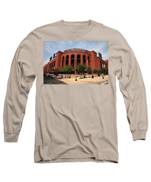 Busch Stadium - St. Louis Cardinals Long Sleeve T-Shirt by Frank Romeo