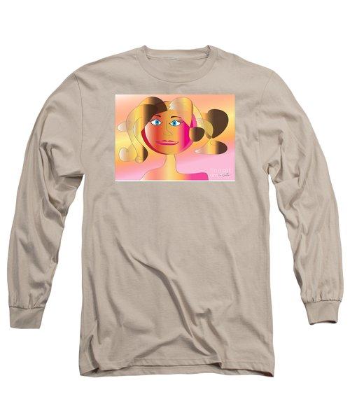 Long Sleeve T-Shirt featuring the digital art Carla by Iris Gelbart