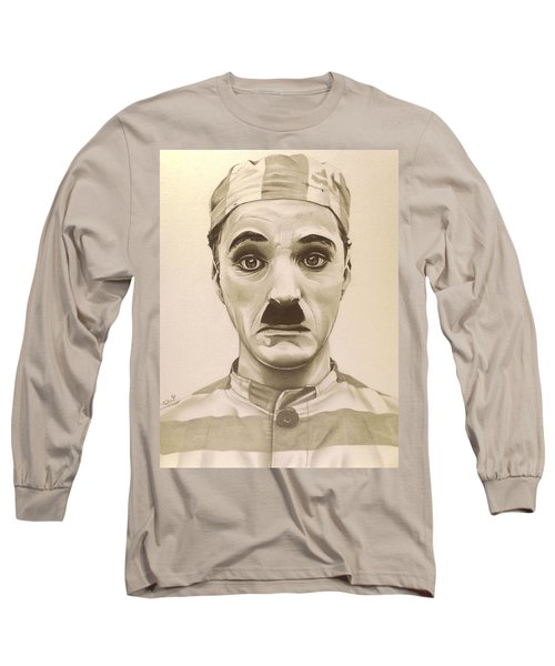 Vintage Charlie Chaplin Long Sleeve T-Shirt by Fred Larucci