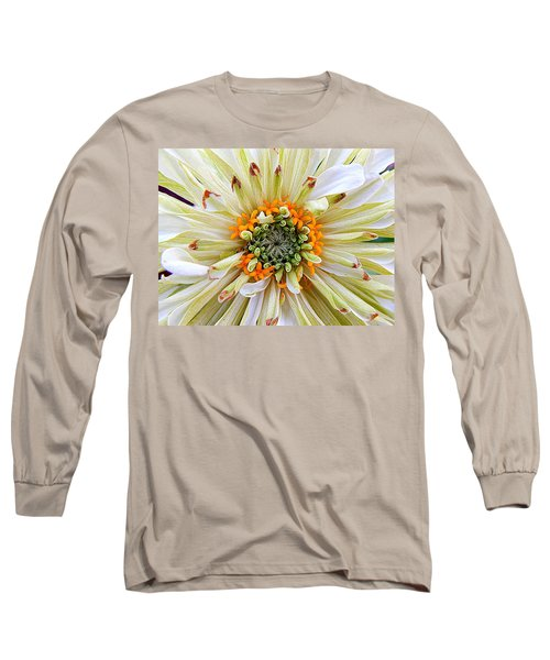 Chrysanthemum Fall In New Orleans Louisiana Long Sleeve T-Shirt by Michael Hoard