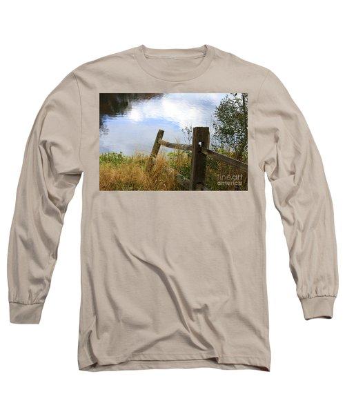 Cloud Reflections Long Sleeve T-Shirt by Deborah Benoit