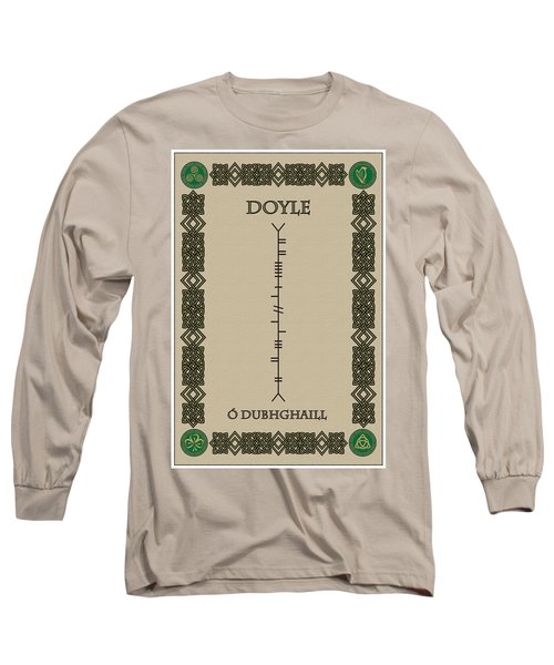 Long Sleeve T-Shirt featuring the digital art Doyle Written In Ogham by Ireland Calling
