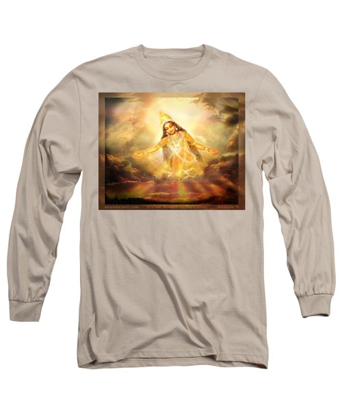 Long Sleeve T-Shirt featuring the mixed media Flying Home  by Ananda Vdovic