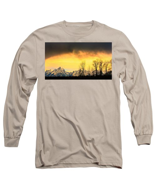 Long Sleeve T-Shirt featuring the photograph Grand Tetons Wyoming by Amanda Stadther