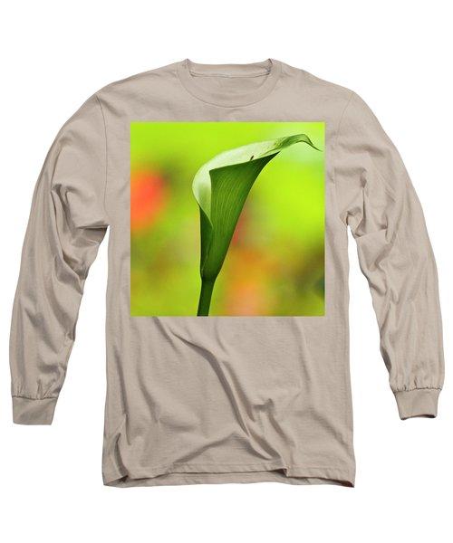 Green Calla Lily Long Sleeve T-Shirt
