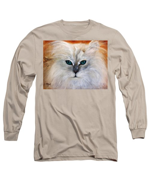 Long Sleeve T-Shirt featuring the painting Hemingway by Barbie Batson