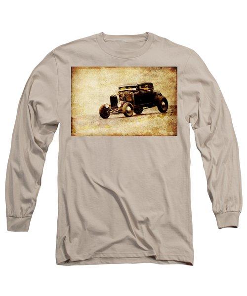 Hot Rod Ford Long Sleeve T-Shirt by Steve McKinzie