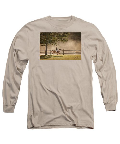 Long Sleeve T-Shirt featuring the photograph Last Ride Of The Day by Joan Davis