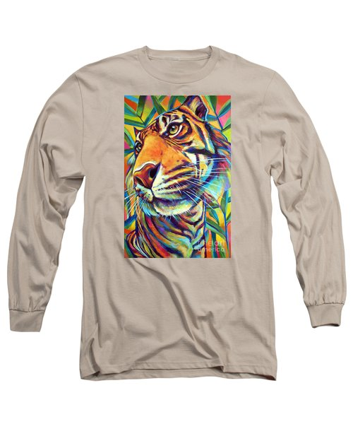 Long Sleeve T-Shirt featuring the painting Le Tigre by Robert Phelps