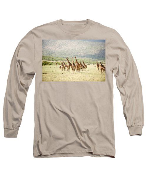 Masai Giraffes Giraffa Camelopardalis Long Sleeve T-Shirt