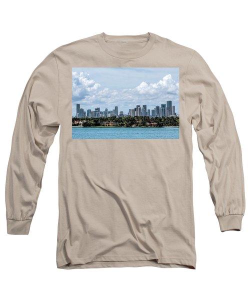 Miami Skyline Long Sleeve T-Shirt