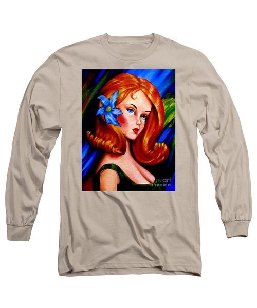 Mod Barbie Redhead Long Sleeve T-Shirt