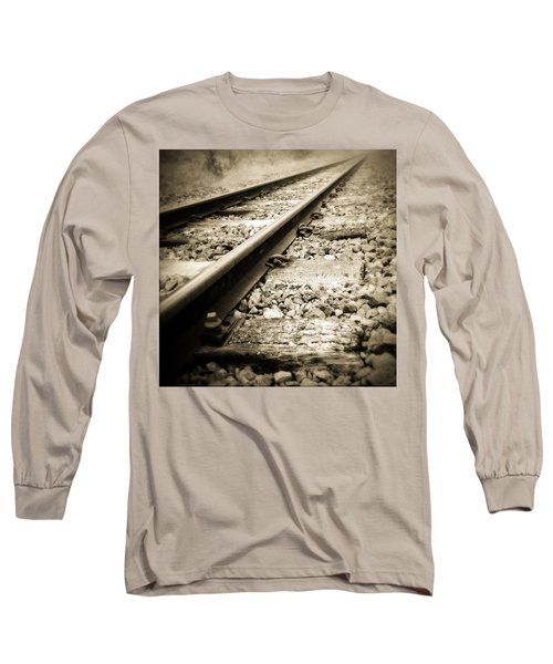 Railway Tracks Long Sleeve T-Shirt by Les Cunliffe