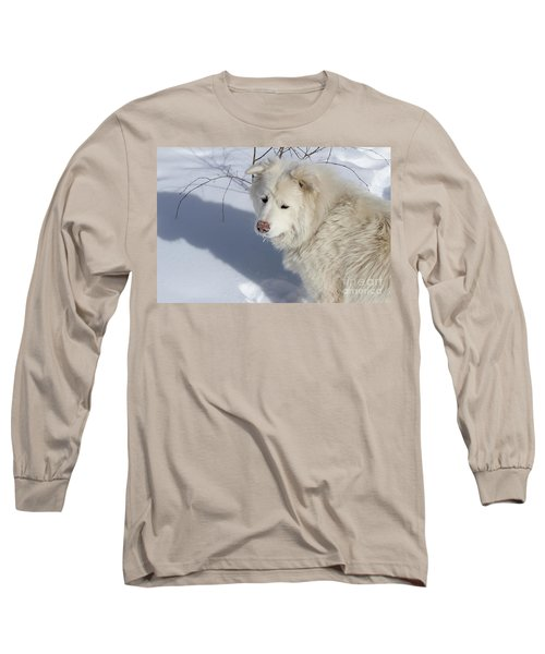 Snowy Nose Long Sleeve T-Shirt by Fiona Kennard
