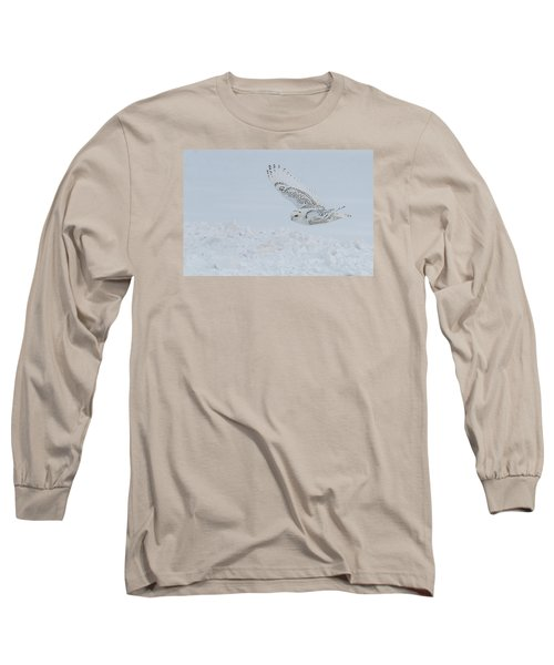 Snowy Owl #2/3 Long Sleeve T-Shirt by Patti Deters