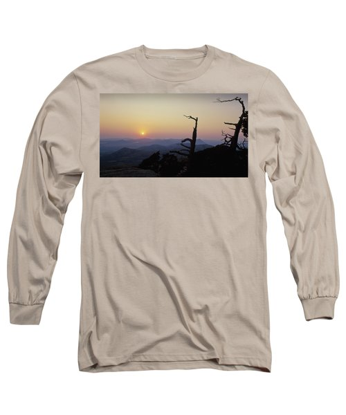 Sunset From Mt Scott Long Sleeve T-Shirt