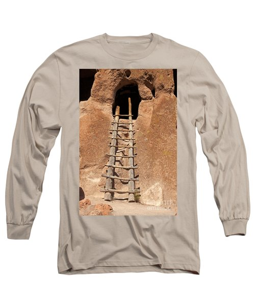 Talus House Front Door Bandelier National Monument Long Sleeve T-Shirt