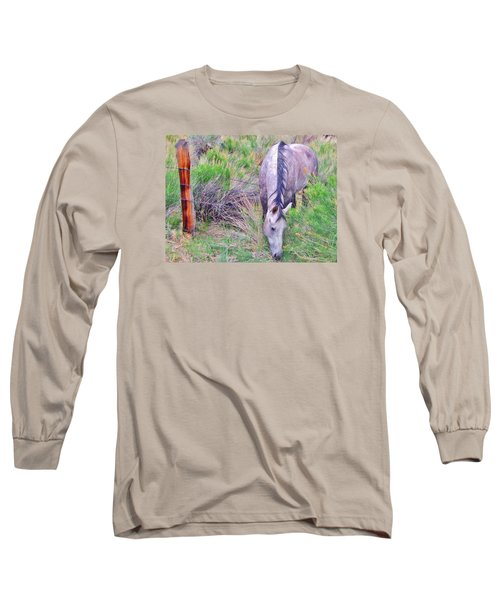 The Grass Is Always Greener Long Sleeve T-Shirt by Marilyn Diaz