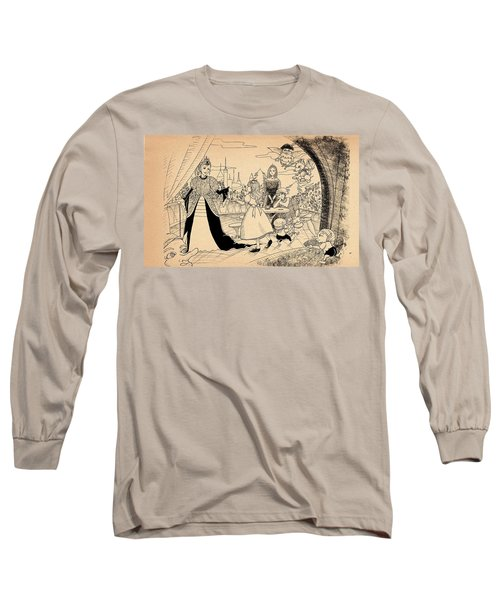 Long Sleeve T-Shirt featuring the drawing The Palace Balcony by Reynold Jay