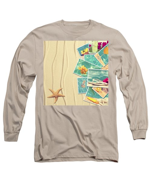 Vacation Postcards Long Sleeve T-Shirt